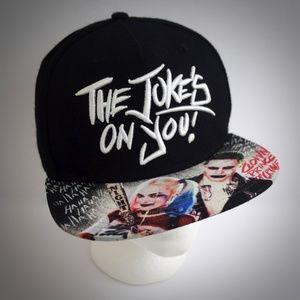 DC Comics Suicide Squad Snapback Hat Black Cap